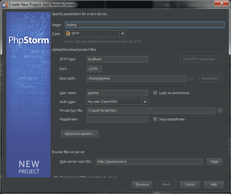 PHPStorm - Add remote server